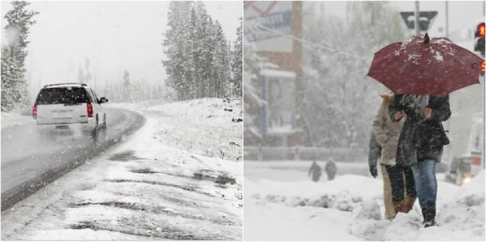 Cod PORTOCALIU de viscol şi ninsori în mai multe judeţe din ţară! Vremea se răceşte considerabil