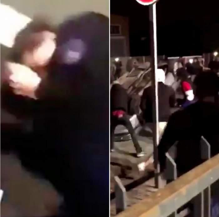 VIDEO / O polițistă a fost bătută crunt, chiar în ziua de Revelion. Imaginile atacului, ajunse pe internet