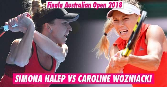 FOTO & VIDEO / Simona Halep a pierdut finala de la Australian Open! Caroline Wozniacki este lider WTA!