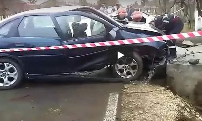 VIDEO / Accident cu patru victime în Teleorman. Poliţiştilor nu le-a venit să creadă când au văzut cine era la volan