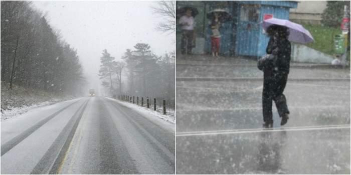Val de aer rece şi ninsori abundente în toată ţara! La ce temperaturi trebuie să ne aşteptăm