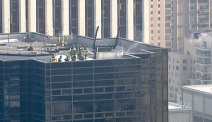 Incendiu puternic la Trump Tower. Pompierii intervin de urgenţă. Imagini live de la faţa locului