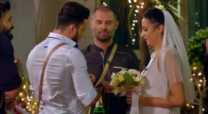 """VIDEO / Nuntă cum nu s-a mai văzut pe """"Insula Iubirii"""". Andreea și ispita George și-au oficializat relația cu o petrecere de pomină"""
