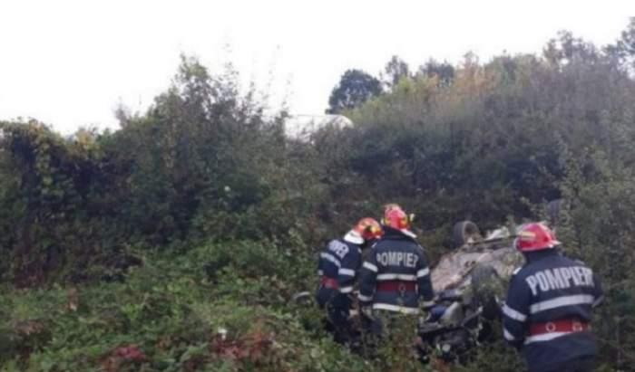 FOTO / Înfiorător! Supraviețuitorul accidentului din Vaslui a zăcut 12 ore în mașină, alături de prietenii săi morți
