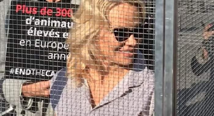VIDEO / Pamela Anderson a fost închisă într-o cuscă de animale! Motivul este uimitor