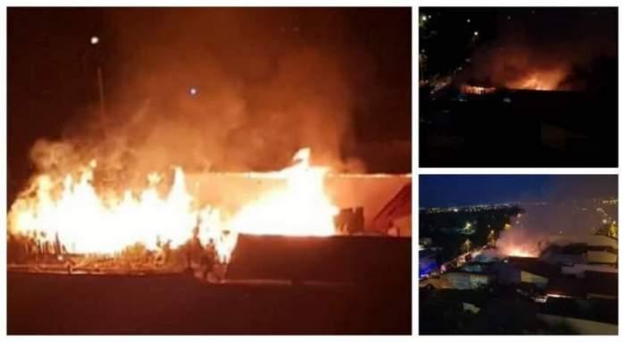 FOTO / Incendiu în Bucureşti! Ard două case în sectorul 2