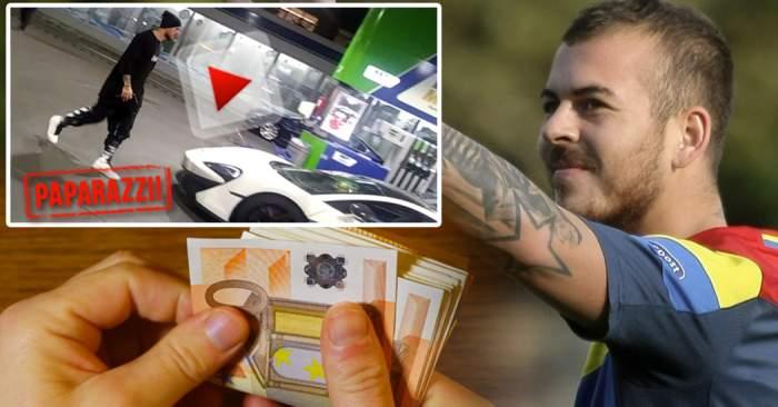 VIDEO PAPARAZZI / Are mașină de sute de mii de euro, dar e atent la orice bănuț! Denis Alibec, dovada zgârceniei, în public