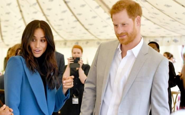 Panică la Casa Regală! Avionul cu care zburau Meghan Markle şi Prinţul Harry a fost lovit de un fulger