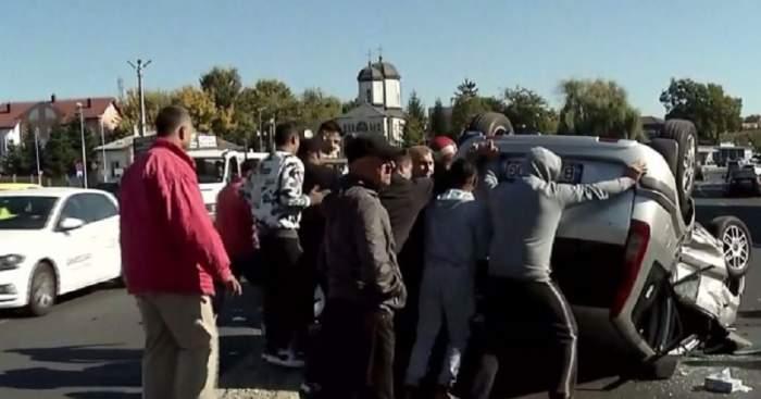 VIDEO / Accident teribil în Capitală! Şoferul vinovat avea permisul suspendat