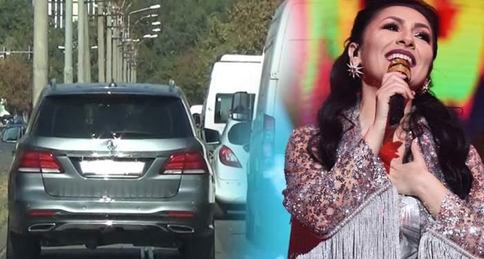 VIDEO PAPARAZZI / Faceti loc, că trece Andra! Șoferul vedetei, ilegalitați în trafic după ce au luat fetița de la grădinița