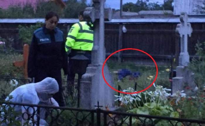 FOTO / Sinucidere șocantă în Arad! Un bărbat s-a înjunghiat în cimitir, lângă mormântul părinților, după o ceartă cu nevasta