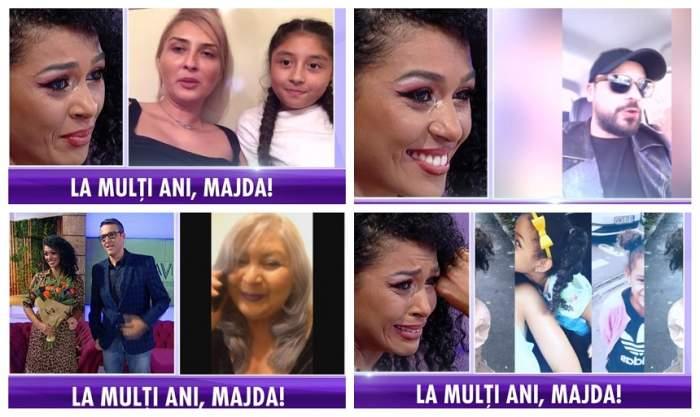 """VIDEO / Majda, cu ochii în lacrimi la """"Agenția VIP"""". Frumoasa prezentatoare a fost surprinsă cu cele mai frumoase urări, de ziua ei"""