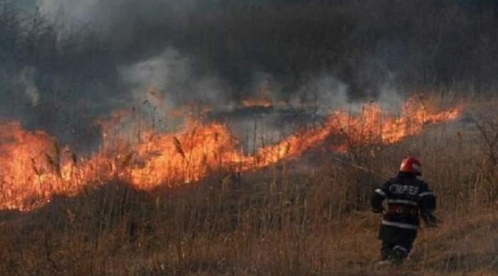 Bărbat ars de viu în Olt! Tot el a provocat şi un incendiu uriaş