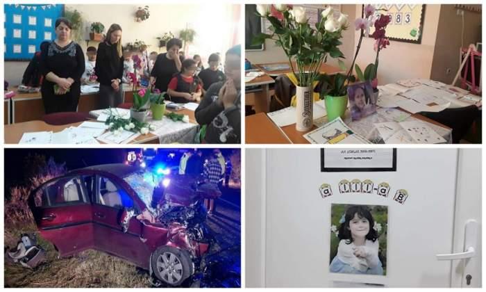 FOTO / Gest sfâșietor făcut de școala unde învăța Teodora, fetița ucisă de un șofer care făcea live la volan