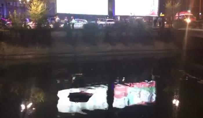 Accident în Bucureşti! O maşină a căzut în Dâmboviţa