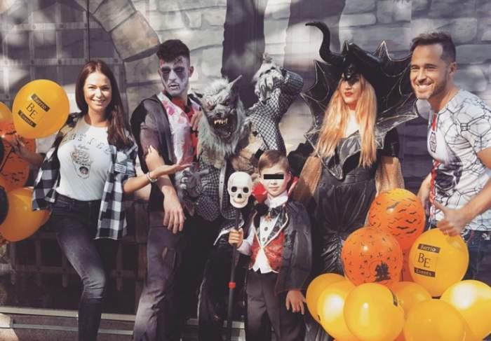 """FOTO / Talentat de mic! Andreas, fiul Maxerilor, a filmat un videoclip """"înfricoşător"""" de Halloween"""