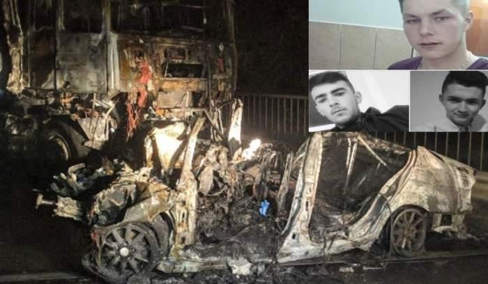 FOTO / Trei tineri au murit carbonizaţi într-un cumplit accident, în Bihor! Plecaseră de la o cununie
