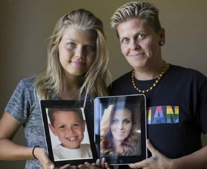 FOTO / Mama şi fiul s-au transformat în tatăl şi fiica! Cazul uluitor de schimbare de sex a făcut înconjurul lumii