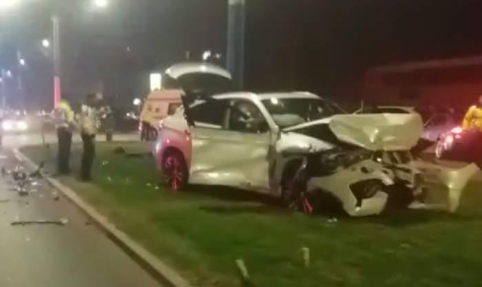 FOTO / Accident foarte grav în Craiova! Două maşini s-au ciocnit puternic
