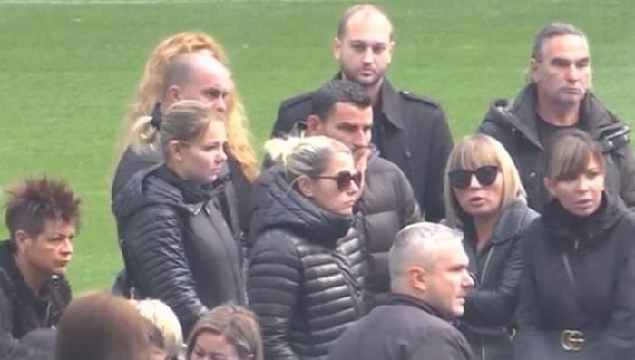 FOTO / Eugen Trică, sprijinul Lorenei, la înmormântarea lui Ilie Balaci. Cei doi au divorţat de trei ani!