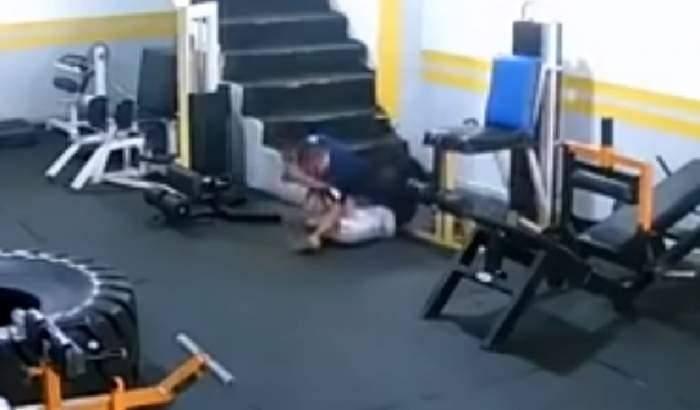 VIDEO / Video absolut şocant! O femeie a fost bătută crunt în sala de sport de fostul iubit