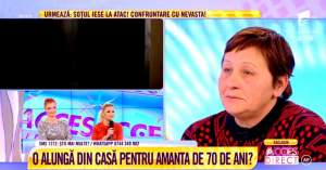 VIDEO / Înşelată de soţul pocăit? Femeia disperată acuză că este alungată din casă pentru amanta de 70 de ani