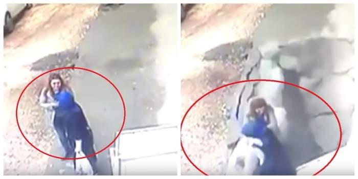 """VIDEO / S-a crăpat pământul sub ele și au fost """"înghițite"""" de o groapă uriașă! Două femei au trecut prin coșmarul vieții lor"""