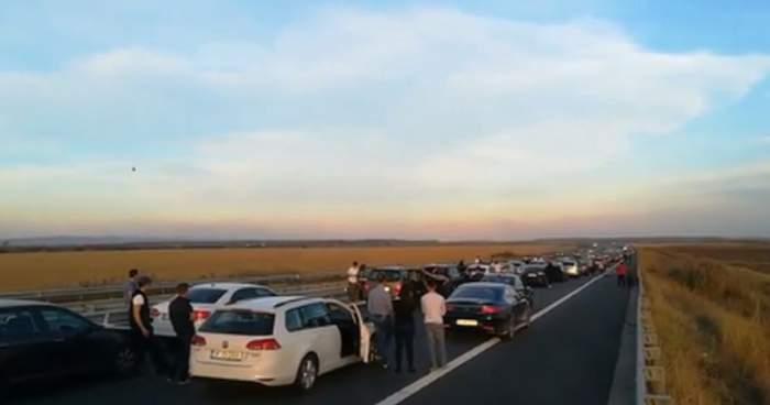 VIDEO / Accident grav, duminică seară, pe A3. Un motociclist de 30 de ani a murit!