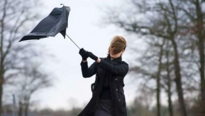 Cod galben de vânt puternic în mai multe zone din țară!