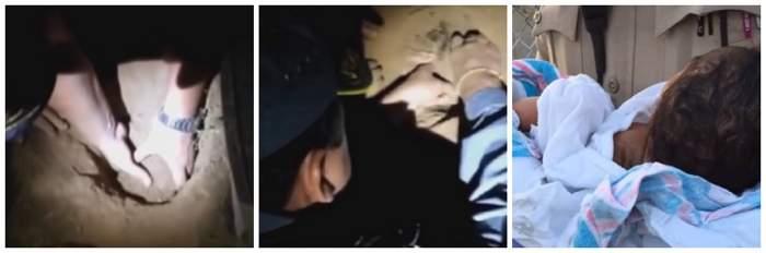 VIDEO / Descoperire cutremurătoare sub pământ! Cum a fost găsit un nou-născut îngropat de viu
