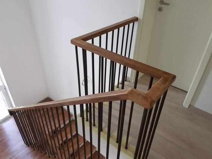 Balustrada din lemn, vedeta scărilor interioare elegante