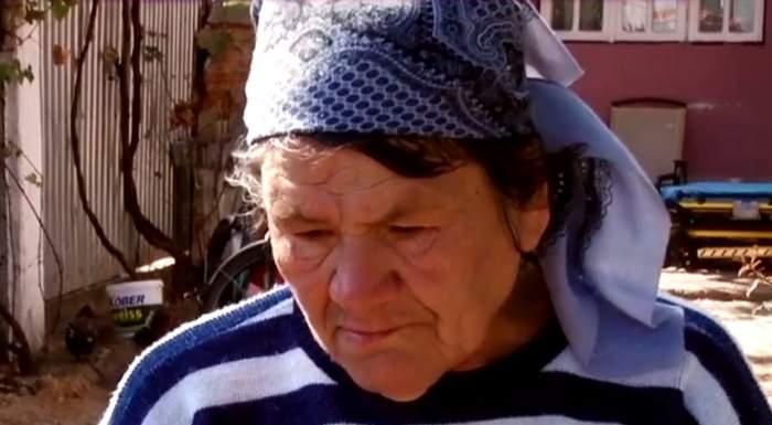 """VIDEO / Bătrâna care şi-a lovit iubitul cu toporul în cap face dezvăluiri cutremurătoare: """"Ce o vrea Dumnezeu"""""""
