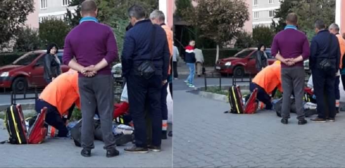 FOTO / Caz tragic în Râmnicu Vâlcea! A murit în urma unui infarct şi a fost lăsat în stradă timp de câteva ore