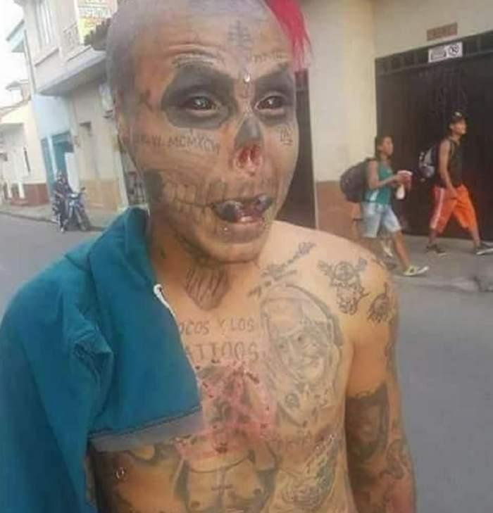 """FOTO / Și-a tăiat urechile și nasul pentru a arăta ca un schelet viu, dar acum are un plan macabru: """"Nu simt durerea"""""""