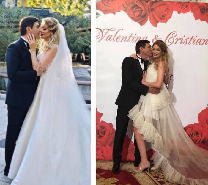 """Cristi Borcea s-a cam zgârcit în privința verighetelor, la nunta cu Valentina Pelinel. A """"compensat"""" prin inelul de logodnă"""
