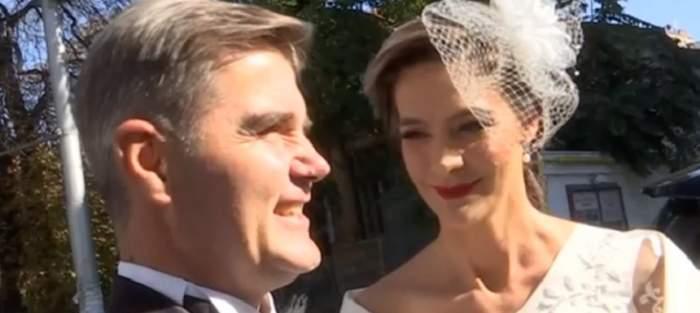 VIDEO / Primele declarații ale Roxanei Ciuhulescu, în ziua nunții! Mirii sunt copleșiți de emoție