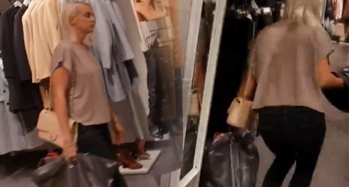 EXCLUSIV / Când iese la shopping nu mai ține cont de nimic! Jojo, haos într-un magazin de haine