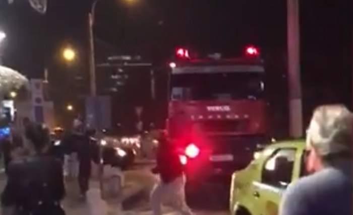 VIDEO / Incendiu la centrul comercial AFI Cotroceni! Oamenii au trecut prin momente de panică