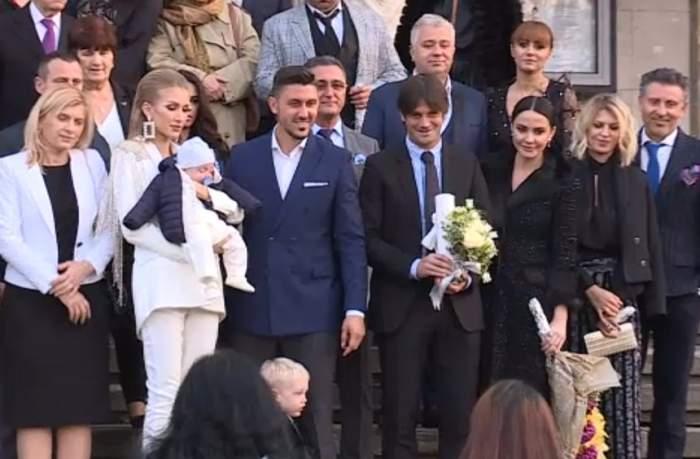 VIDEO / Imagini de senzație de la botezul băiețelului lui Ciprian Marica! Nași au fost Cristi și Adelina Chivu