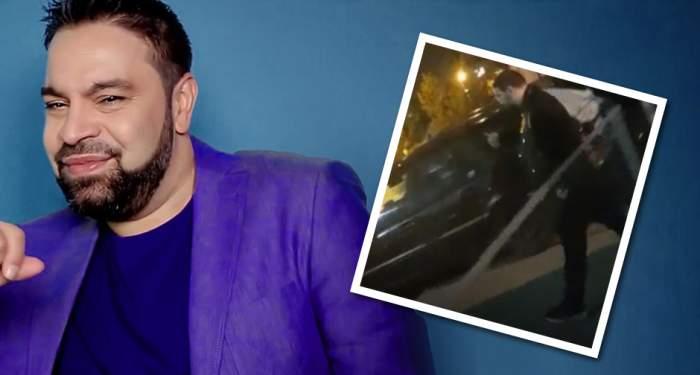 VIDEO / Cum a fost filmat Florin Salam, după ce a fost bătut de un interlop!