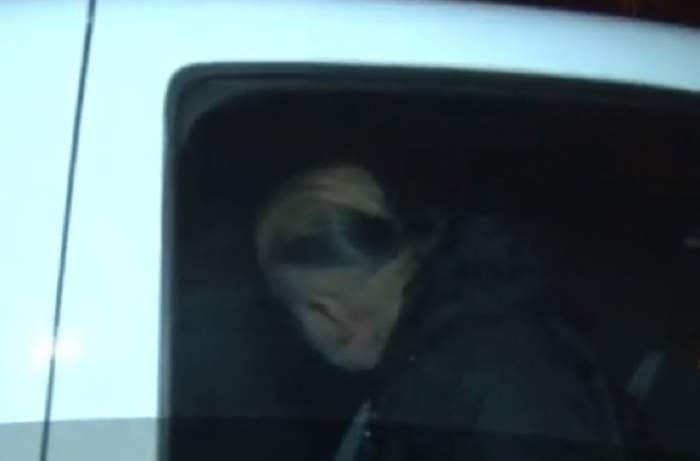 VIDEO / Primele imagini cu Daniel Iordăchioaie în mașina poliției, după ce a fost prins fără permis