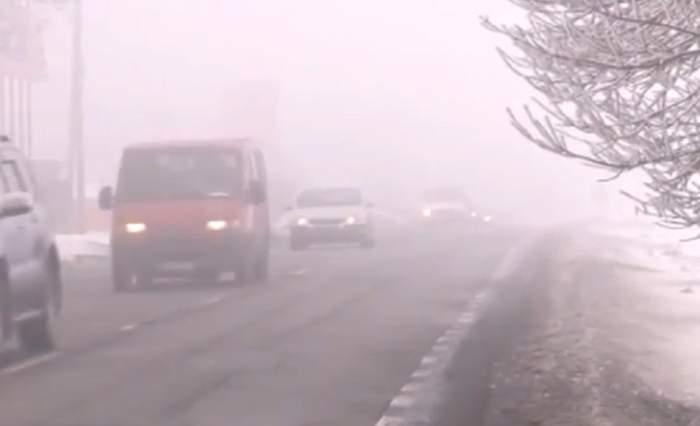 Cod galben de ceață, în mai multe județe din țară