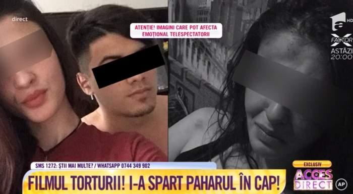 """VIDEO / Imaginile terorii! Fată de 17 ani, torturată de iubit: """"Îmi e frică să nu o omoare"""""""