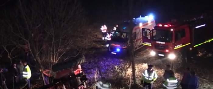 VIDEO / Incident tragic în Cluj! Un bărbat a murit strivit de cabina tractorului
