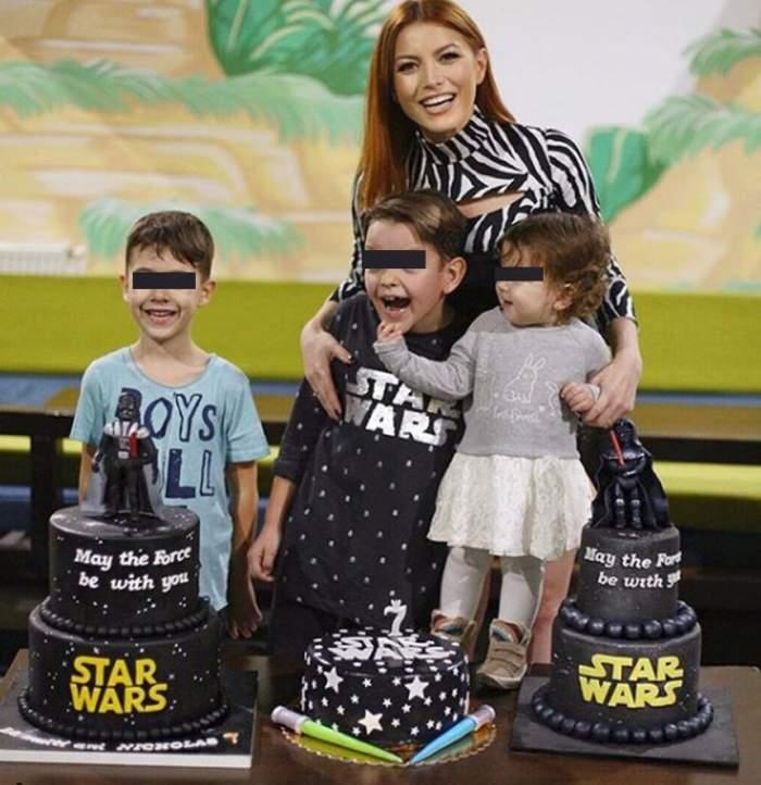 FOTO / Fiul Elenei Gheorghe a împlinit 7 ani. Artista a organizat o petrecere ca în poveşti pentru Nicholas