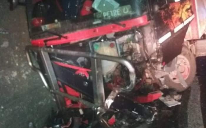 Accident grav pe DN7! Patru victime au rămas încarcerate