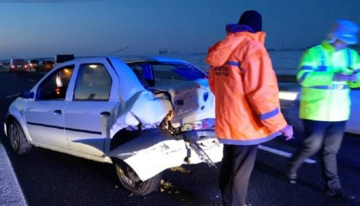 Accident cumplit pe Autostrada Soarelui! O fetiță de 4 ani a fost rănită grav
