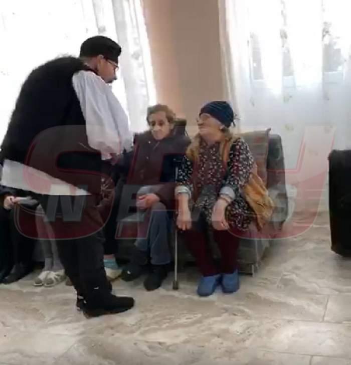 VIDEO PAPARAZZI / Cristian Popescu Piedone, alături de bătrânii de la un cămin din Bucureşti! Gest emoţionant în prag de sărbători