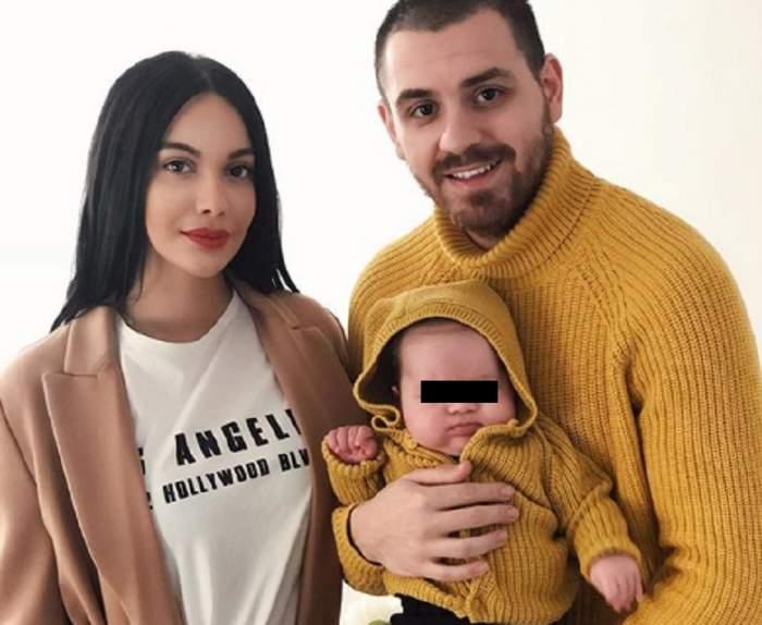 FOTO / Așa arată familia perfectă! Betty Stoian, Cătălin Vișănescu și fiul lor, primul Crăciun în 3