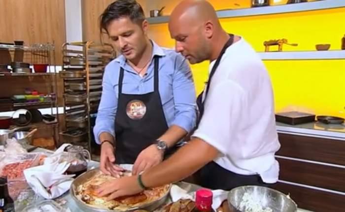 """VIDEO / """"Plăcinta cu de toate"""", un preparat eșuat! Liviu Vârciu și Andrei Ștefănescu: """"Am stricat-o, ce le mai dăm să mănânce?"""""""